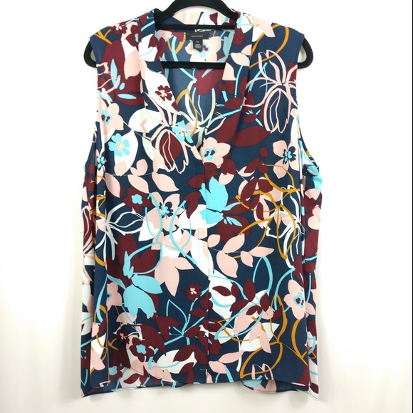 Halogen Tops - NEW Halogen Floral Sleeveless Top Plus Size